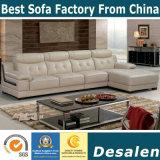 L moderno sofá de los muebles del hogar del cuero genuino de la dimensión de una variable (B. 938)