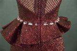 Vestito da sera di cristallo del fodero del merletto del Sequin