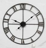 Reloj de pared francés antiguo redondo del vario metal