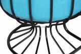 스테인리스 프레임을%s 가진 파란 가죽 거실 여가 의자