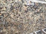 De hete In het groot Countertop van het Graniet van het Strand van de Verkoop Gouden Gele Gouden Plak van de Tegel voor de Decoratie van de Keuken