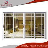 Aluminio y puerta deslizante de cristal con redes interiores