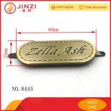 L'OEM Antibrass di piastra metallica con incide il marchio per gli accessori del sacchetto