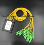 Оптоволоконный Gpon телекоммуникационных 1X16 АБС в салоне PLC разветвителя с разъемом