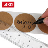 Escritura de la etiqueta auta-adhesivo de la etiqueta engomada del pedazo del PUNTO redondo portable adhesivo permanente de Brown