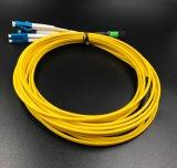 Cavo di zona duplex ottico della fibra MPO-LC LSZH per la rete locale