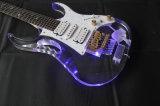 Musique de Hanhai/guitare électrique en verre acrylique avec l'éclairage LED
