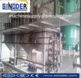 mini planta de la refinería de petróleo de palma de la planta de la refinería de petróleo del coco 5t
