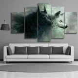 Hp print 5 Pieces Canvas barrier kind print wolf Painting Canvas decaying Home Decor barrier kind for Living Room Decor Painting