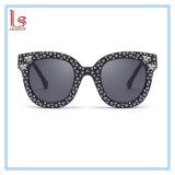 Il nuovo cristallo all'ingrosso del diamante nero di disegno di marca Stars gli occhiali da sole