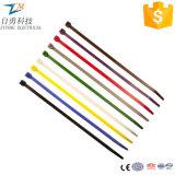 Serres-câble en nylon auto-bloqueurs colorés de grandeurs naturelles