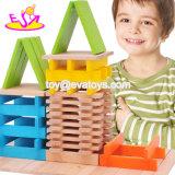 子供W13D160のためのブロックのおもちゃをスタックする卸し売り嬉しく多彩な木の長方形