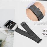 Bande de montre neuve de poignet de boucle de luxe réglable d'acier inoxydable pour ionique