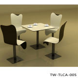 La Tabella pranzante di marmo imposta la Tabella moderna superiore di marmo della sala da pranzo della Tabella pranzante