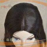 Menselijke Donkere Bruine Scalp van het Haar van de Kleur Remy Pruik (pPG-l-01039)