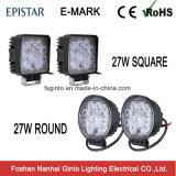 Indicatore luminoso rotondo di E-MARK/quadrato fuori strada del lavoro di 27W LED