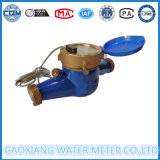Corpo em latão Multi Jet Contador de água de pulso com 10L/Pulso