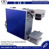 système gravure de Laer de la fibre 20W pour le matériau enduit
