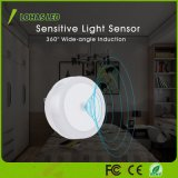 Crepuscolo da albeggiare lampada bianca dell'indicatore luminoso di notte di luce del giorno 5000K LED del sensore 0.6W per le scale di corridoio della stanza da bagno