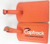 新しい到着流行デザインPUのロゴの革荷物の札