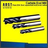 Плоский механический инструмент CNC торцевой фрезы носа шарика карбида станов HRC55