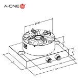 a-One Erowa CNC EDM 사용 3A-100902를 위한 자동적인 4개의 턱 선반 물림쇠