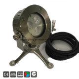 Marine IP68 3X3WW Piscina LED Lámpara de submarino