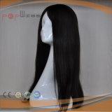 Виргинские Реми черный цвет волос шелк верхней части Wig (PPG-l-01472)