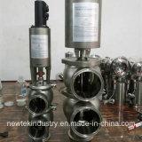 Санитарный Tri перекрывной клапан SS304 струбцины Acutuated