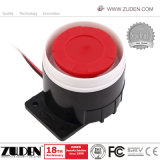 Flash de luz estroboscópica con cable de la sirena la sirena de alarma para interiores