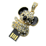 O USB do rato do ouro conduz o Rhinestone animal do cristal do Koala da pena