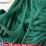 Corde tressée/cordon de chaîne de caractères ronde jaune de polyester
