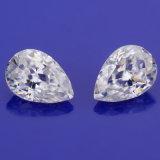 10X7mm diamante di Moissanite di colore di Gh del taglio del ghiaccio schiacciato figura della pera di 1.5 carati