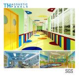 Fibra de poliéster Retartant chama interior Placa acústica decorativos para a escola