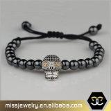 Schädel bördelt Armband für Männer, Großverkauf-Ausdehnung gebördeltes Armband Msbb022