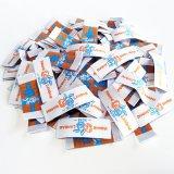 Diferentes modelos de etiquetas de tecidos de malha personalizado com o preço de venda por grosso de fábrica