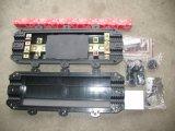 Закрытие соединения оптического волокна кабеля портов FTTH 4 встроенное горизонтальное