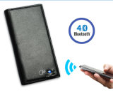 携帯電話柔らかい牛革長いBluetoothの札入れの反無くなったSelfieの財布のためのスマートな札入れを満たす本革USB