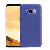 Het in het groot Geval van de Telefoon van het Silicone TPU van de Koolstof van de Vezel van het Draadtrekken Zachte voor de Melkweg van Samsung S8