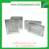 Подгонянная коробка подарка роскошного картона твердая бумажная с окном для пластичных коробок