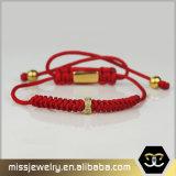 De in het groot Gevlechte Armband van de Parel van het Verbindingsstuk Cuostom, de Armbanden Mjb002 van het Macramé
