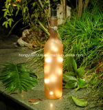 Nuevo Diseño de Material de vidrio de la luz de la botella de vino de Navidad LED