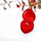 빨간 로즈 디자인 우단 심혼 모양 선물 포장 상자 - 사례 2