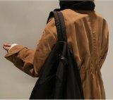 流行の男女兼用は立場カラーダスターコートを暖める