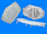 Pp.-Wegwerfnicht gesponnener Bett-Deckel mit Gummiband herum