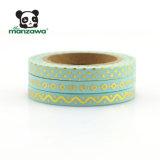 cinta flaca de Washi de la hoja de oro de los conjuntos de 5m m de bebé del color delgado del azul