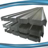 Folha de alumínio da telhadura do trapésio do zinco colorido longo da extensão