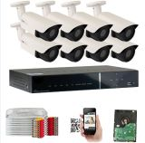 1080P de 2.0 MP 8CH H. 264 Ahd Kit DVR cámara de seguridad CCTV