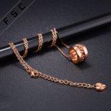 주문 형식 인공적인 부속품 로즈 여자를 위한 금에 의하여 도금되는 스테인리스 원형 목걸이