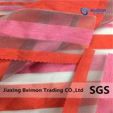100% Polyester, Yarn-Dyed unregelmäßiger Streifen-Organza gesponnenes Gewebe für Kleid